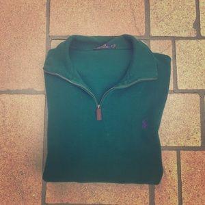 Ralph Lauren 'Winter Green' Zip Pullover